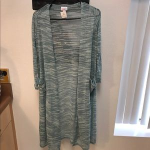 LulaRoe Long Blue/Gray Open Sweater Size XS